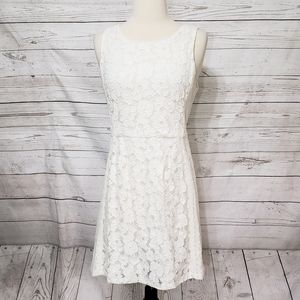 Skies Are Blue Lace Overlay Dress